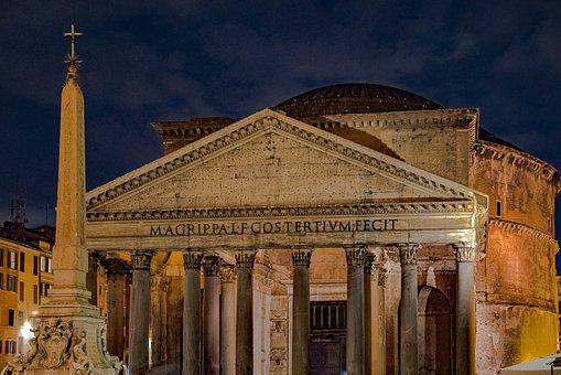 Pantheon, Rome, Italy, Architecture, Building, Monument