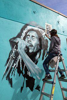 Artist, Austin, Texas, Bob Marley, Streeart
