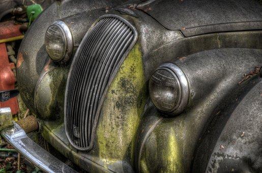 Abandoned, Car, Classic, Rusty, Rotten, Broken, Old