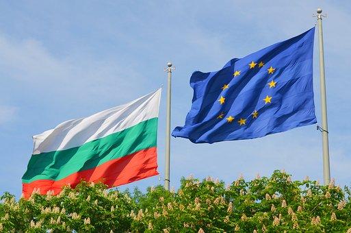 Bulgaria, Flag, The European Union, Burgas