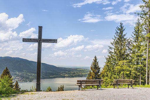 Tegernsee, Cross, Christianity, Nature, Bavaria, Lake