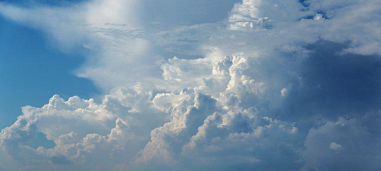 The Sky, Clouds, Blue, Clear, Storm, Blue Sky, Outdoors