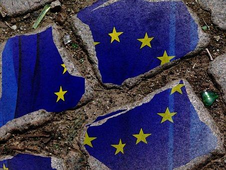 Europe, Europe Flag, Breaking Point, Eu Flag, Blue