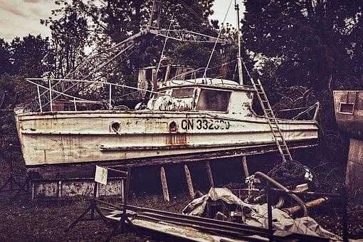 Old, Boat, Fisher, Ship, Vessel, Transport, Vintage