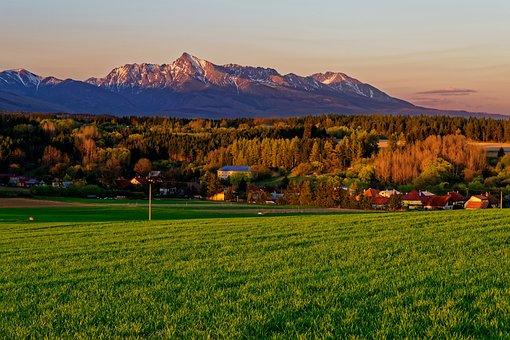 Kriváň, Mountains, The Sky, West, Grass, Trip, Field