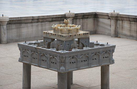 Fountain, Marble, History, Showplace, Topkapi, Palace