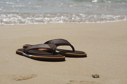 Holiday, Summer, Beach, Coast, Sea, Water, Shoes