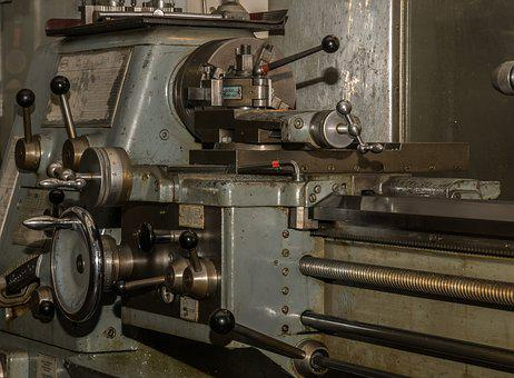 Lathe, Workshop, Mechanical Engineering, Industry