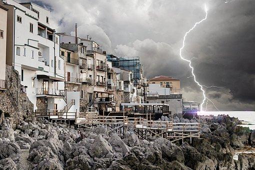 Lightning, Bad Weather, Thunderstorm, Landscape, Storm