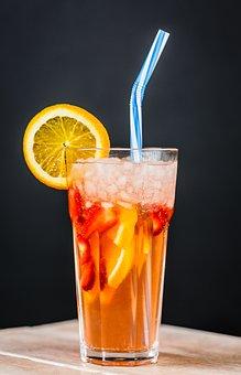 Lemon, Glass, Drink, Coldly, Health, Cocktail, Air