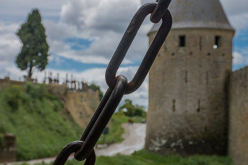 Chains, Medieval, Castle, Medieval Architecture, Bridge
