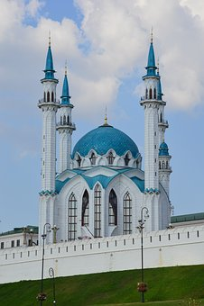 Kazan, Mosque, Tatarstan, Kul-sharif, The Kremlin, Sky