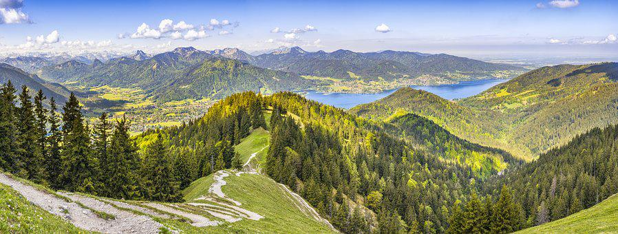 Alpine, Mountains, Tegernsee, Landscape, Nature, Sky