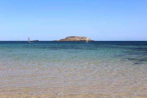 Beach, Perfect, Windsurf, Summer, Ocean, Sea, Algarve