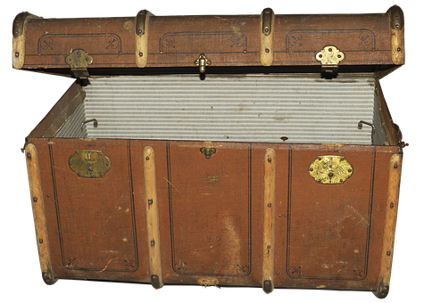 Luggage, Old Suitcase, Steamer Trunk, Chest