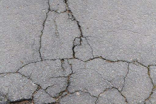 Asphalt, Road, Cracks, Cracked, Stones, Broken, Pattern