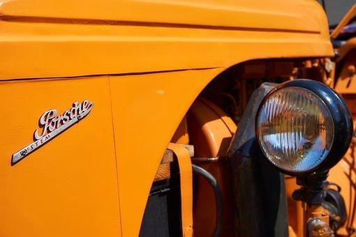 Tractor, Porsche, Oldtimer, Restored, Agriculture