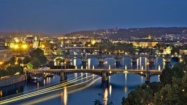 Blue Hour, Prague, Moldova, Historically, Bridge, City