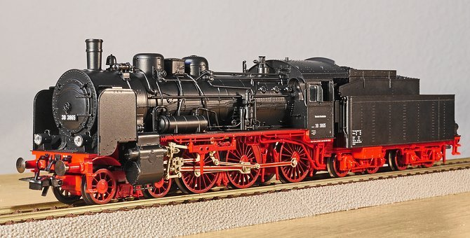 Steam Locomotive, Model, Scale H0, Personenzuglok
