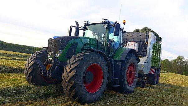 Tractor, Silage, Cereals, Tractors