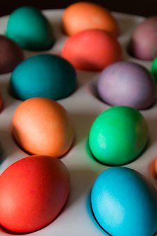 Eggs, Easter, Easter Eggs, Holiday, Spring, Color