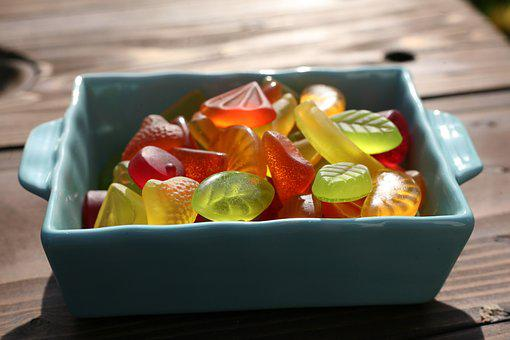 Fruit Jelly, Sweet, Sweetness, Brand, Red, Yellow