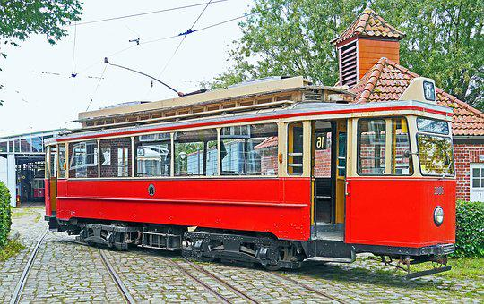 The Hamburg Tram, Oldtimer, Museum, Schönberger Beach
