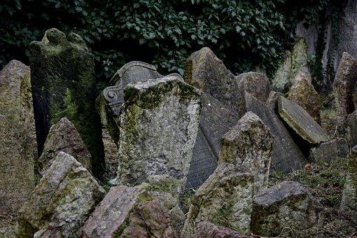Tombstone, Czech, Prague, Historical, Jewish Cemetery