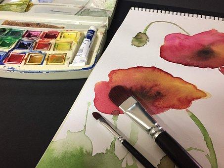 Watercolor, Art, Paint, Colors, Watery, Color Palette