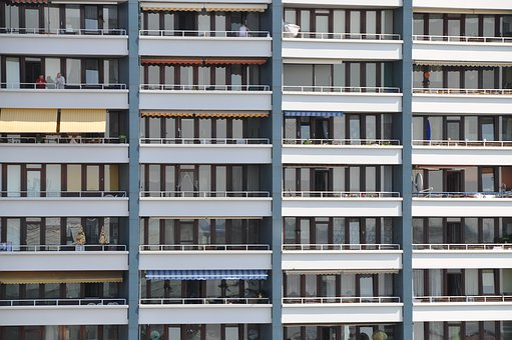 Skyscraper, Balconies, City, Big City, Metropolis, Home