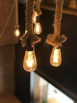 Lamps, Light, Rope, Bar