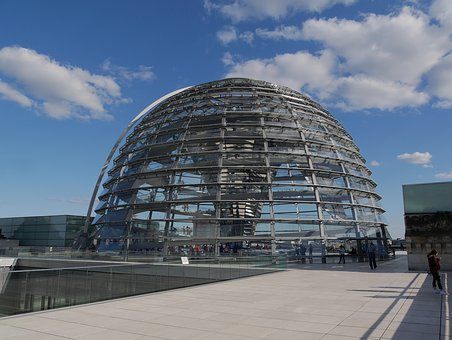 Berlin, Reichstag, Germany, Dome, Government