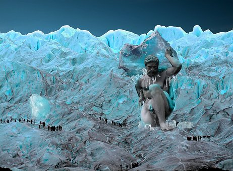 Giant, Ice, Blue, Snow, Cold, Frost, Crystal, People