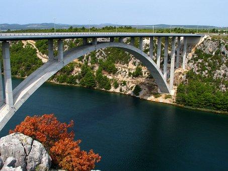 Croatia, Sea, Bridge, Beach, Blue, Croatian Country