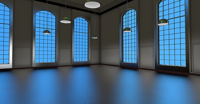 Space, Window, Light, Blue, Room, Building, Empty Space