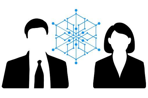 Block Chain, Businessman, Businesswoman, Business