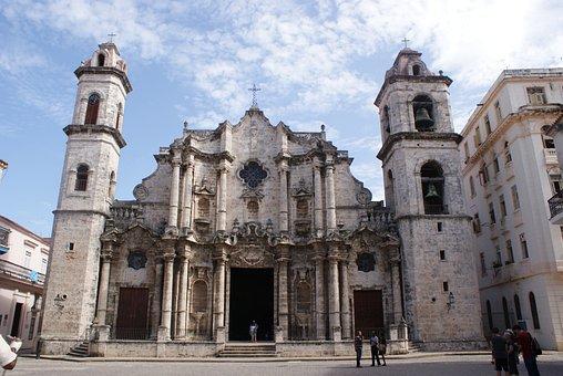 Cathedral, Architecture, Havana, Symbol, Religion, Sky