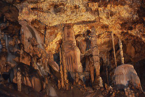 Cave, Stalactite, Caver, Depths Of, Stone, Darkness