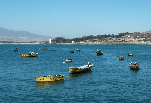 Costa, Boats, Chile, Marina, Spring, Holiday, Fishing