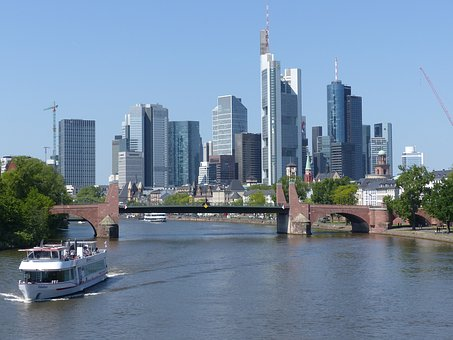 Frankfurt Am Main Germany, Frankfurt, City, Skyline