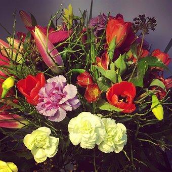 Flowers, Bouquet, Composition, Flora