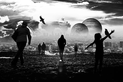 Planet, Earth, People, Black White, Heaven, Continent