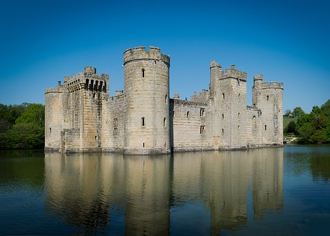 Bodiam Castle, East Sussex, Moat, English Castle