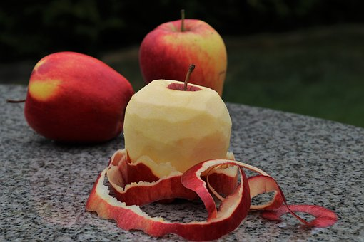 The Peeled Fruit, Apple, Eat, Juicy, Apples, Nature