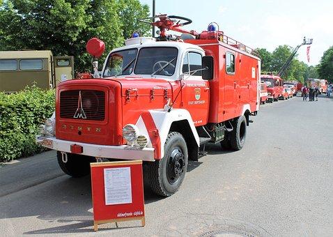 Fire, Oldtimer, Fire Truck