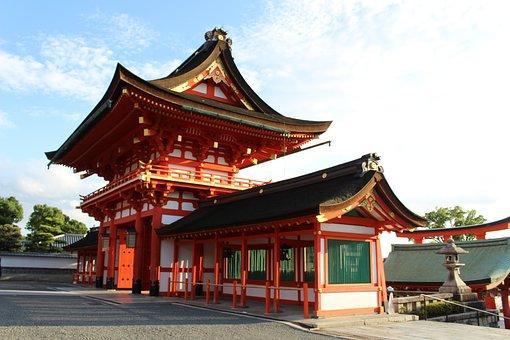 Fushimi Inari, Kyoto, Fushimiinari, Japan, East, Temple