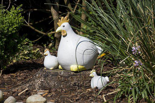Deco, Chicken, Decoration, Garden, Artwork, Ceramic