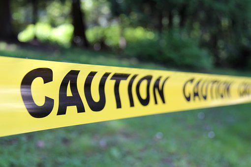 Caution, Hazard, Stop, Grass, Outdoor, Yellow, Tape, Do