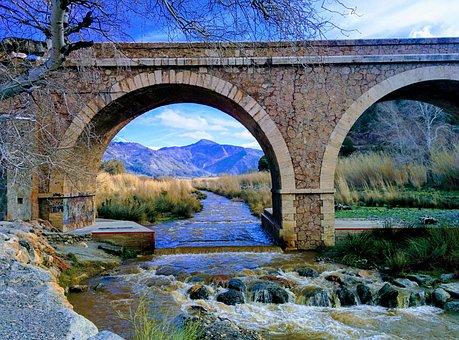 Guadalfeo, Orgiva, Granada, River, Water, Autumn, Brown