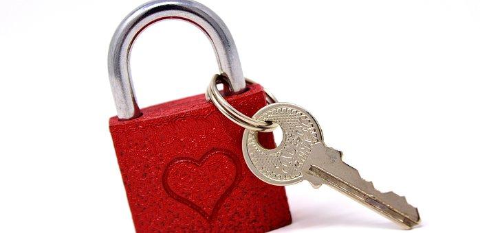 Key To The Heart, Love, Castle, Symbol, Heart, Key